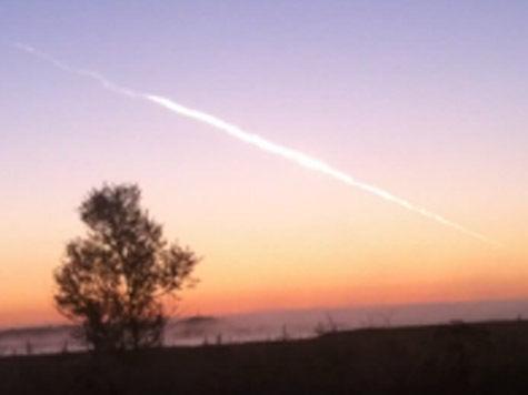 Над островом Русский взорвался метеорит?