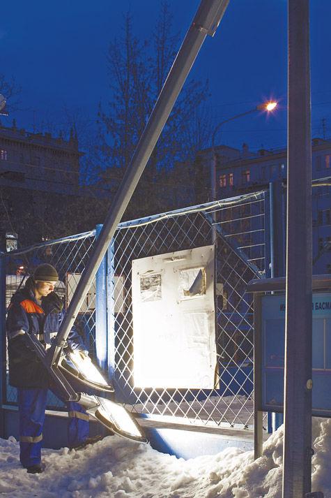 В Москве установят складные уличные фонари