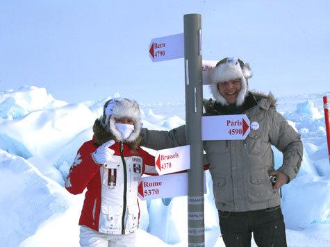 На Северном полюсе начали окольцовывать людей