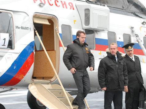 Медведев будет летать на работу над Краснопресненской набережной