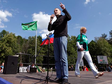Сергей Удальцов записался в защитники Цаговского леса