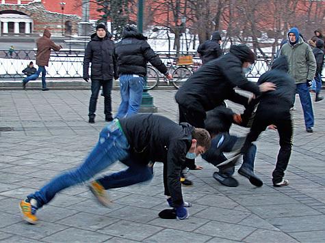 Московские фанаты попались
