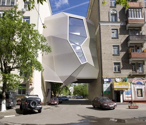 Оригинальный архитектурный проект позволяет снизить стоимость офисной аренды