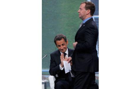 Медведев и Саркози легко нашли общий язык в Питере