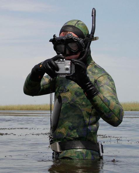 Рыбаки увидели Медведева издалека