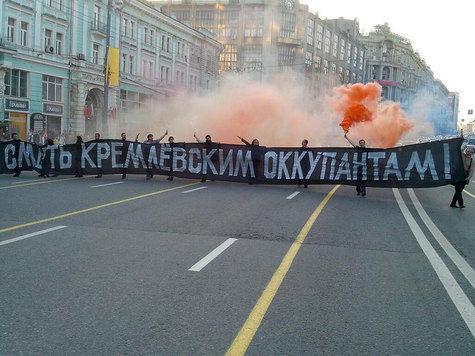 В Москве 9 мая прошла акция: активисты с баннером