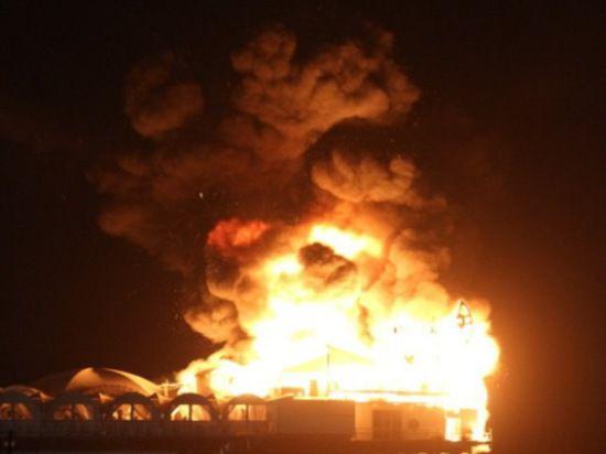 Пожар на базе клуба