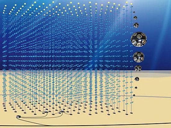 Физики из России вовлечены в создание крупнейшего глубоководного нейтринного телескопа