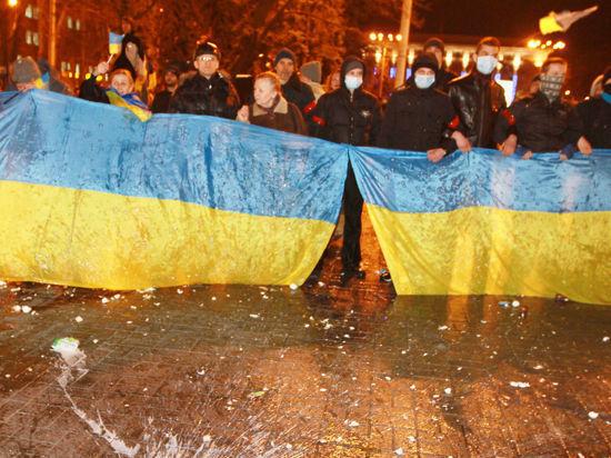 Донецкая республика установила первый пограничный столб