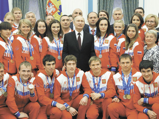 Путин благословил спортсменов