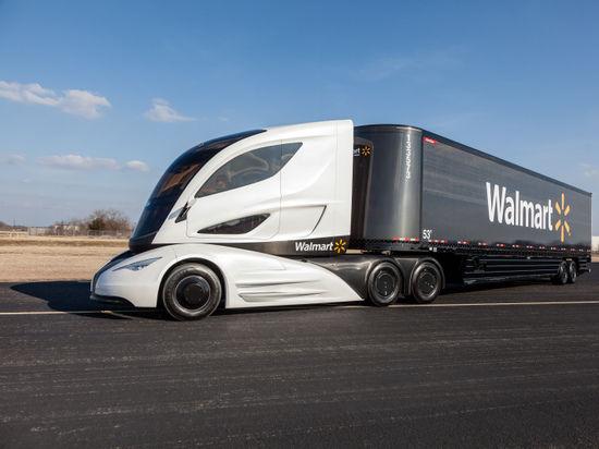 Американцы представили футуристический углепластиковый грузовик