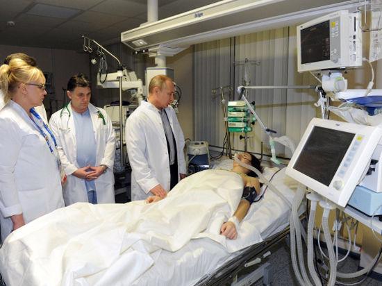 Президент посетил спортсменку, сломавшую позвоночник, после операции в краснополянской больнице