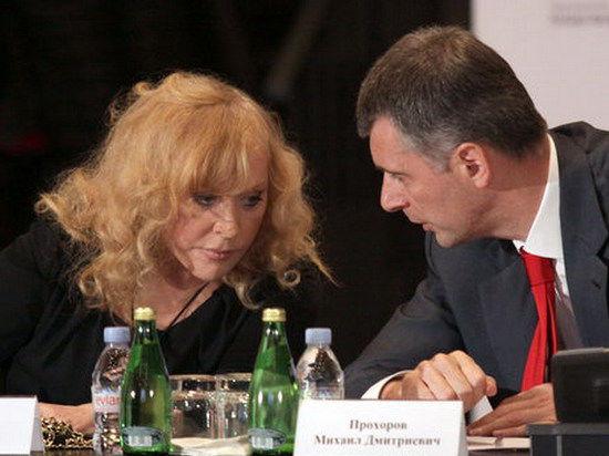 Миллиардер Прохоров подарит на юбилей Алле Пугачевой воздушный поцелуй