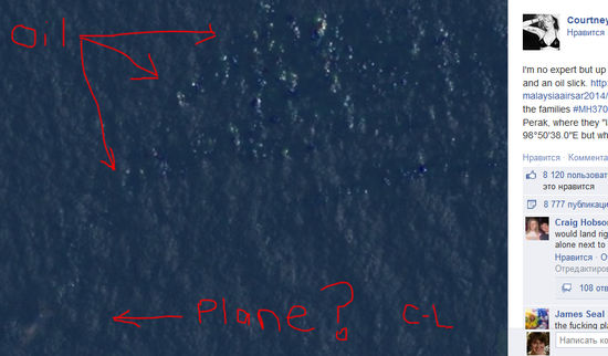Кортни Лав нашла пропавший малайзийский Boeing