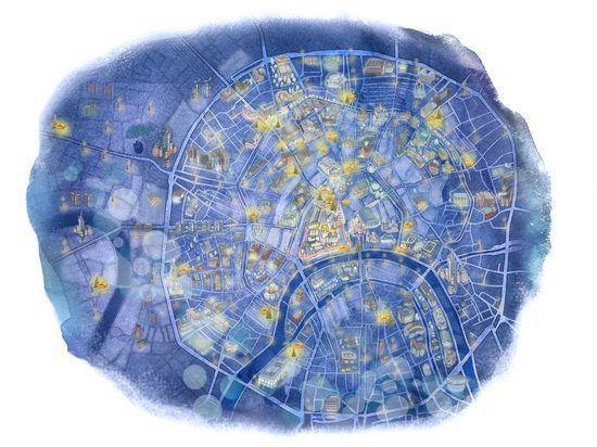 В интернете появилась карта рождественских ярмарок Москвы