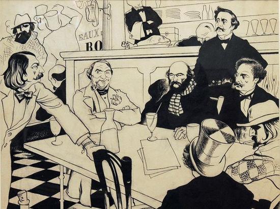В Литмузее открылась первая выставка Юрия Анненкова