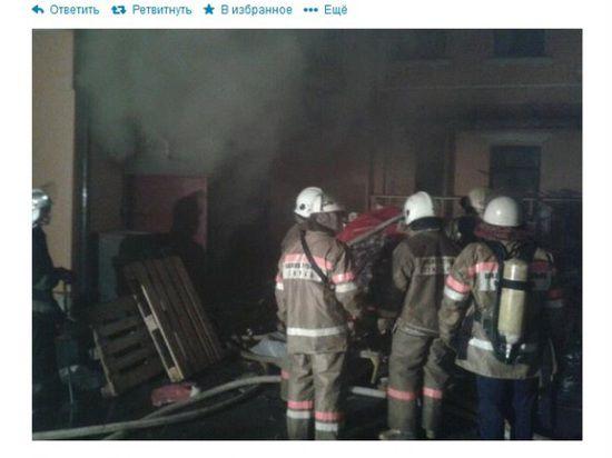 В Киеве сожгли офис коммунистов, захваченный активистами Майдана