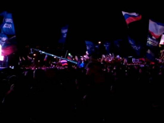 За вхождение в Россию голосовали всем Крымом
