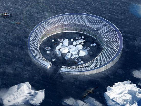 Представлен проект дрейфующего арктического города, который питается айсбергами