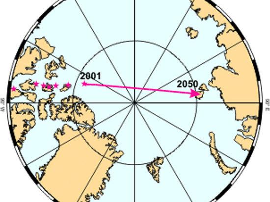 Северный полюс мчится кМоскве