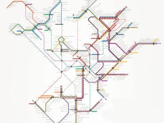 В Москве появилась общая схема трамвайных машрутов