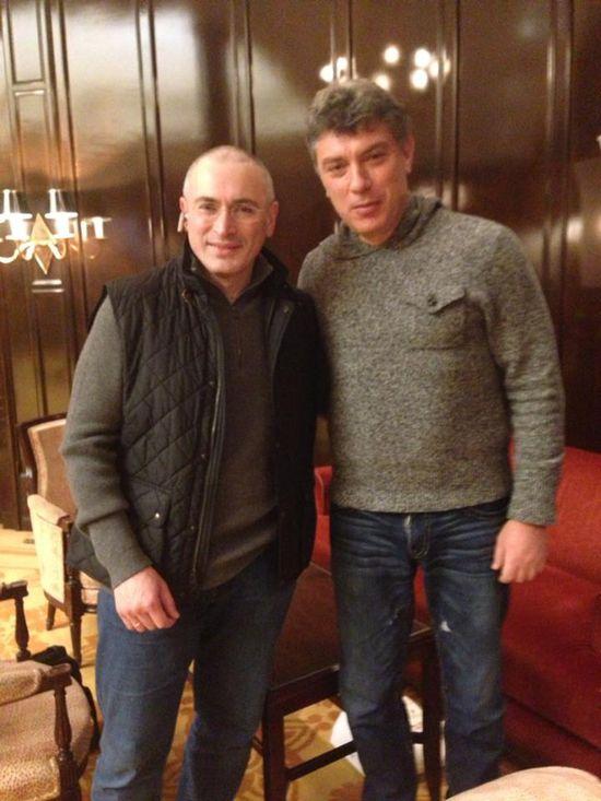 Ходорковский обсудил с Немцовым самодержавие в России