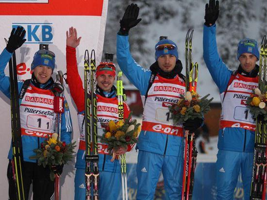 Сборная России по биатлону завоевала две медали – бронзовую и деревянную