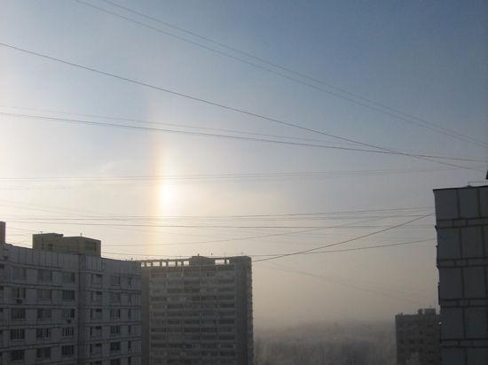 Морозы вызвали радугу в Москве