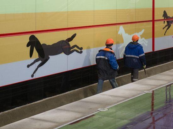 Участок метро