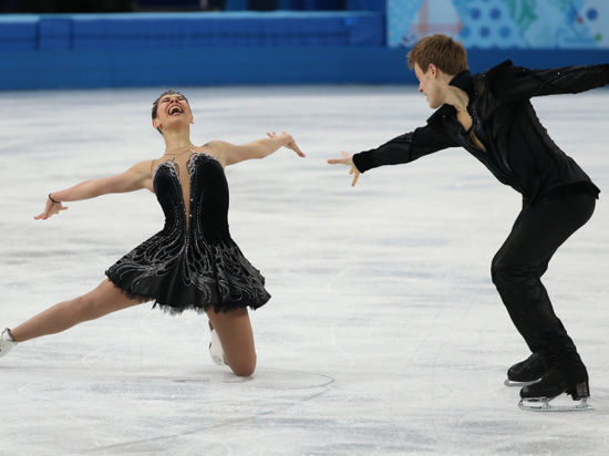 Гонка преследования в танцах на льду