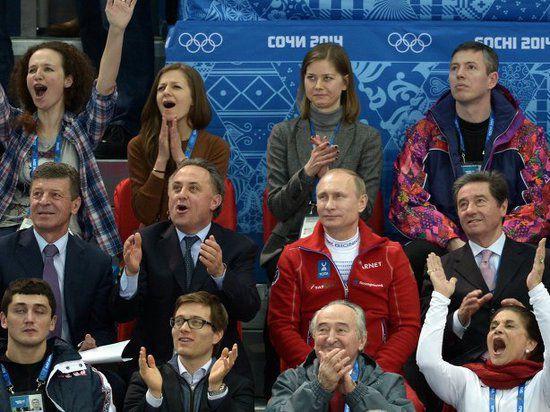 Путин проникся олимпийским духом