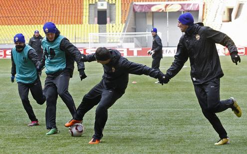 Тренировка ЦСКА прошла почти в экстремальных условиях