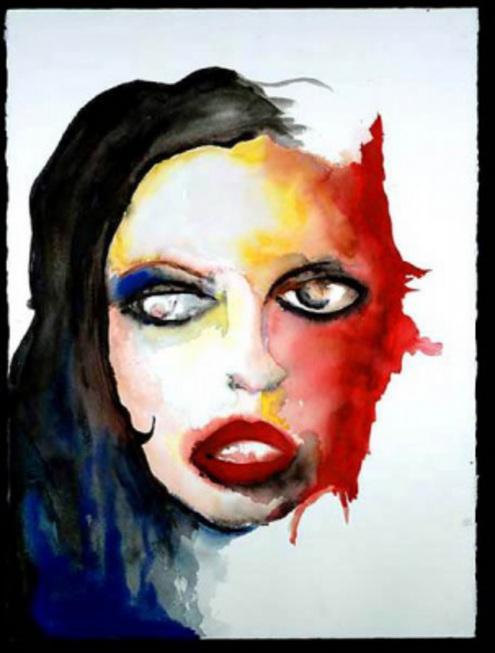 Мэрлин Мэнсон выставил свои картины в Вене