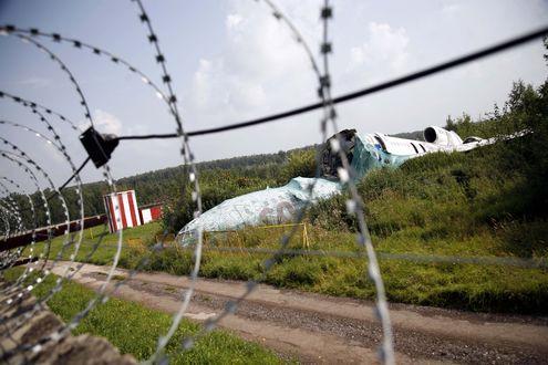Обломки разбившегося в «Домодедово» самолета не могут убрать несколько лет