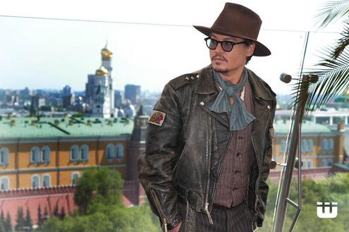 Джонни Дэпп и Пенелопа Крус в Москве