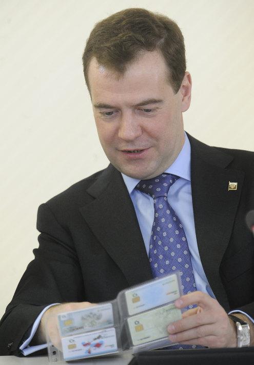"Медведеву презентовали ""карту россиянина"""