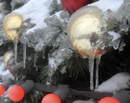 Москву сковала ледяная корка