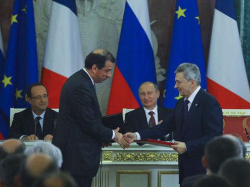 Путин встретился с главой Франции Олландом