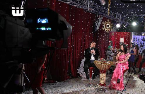 «Новогодний звездопад» прошел на съемочной площадке