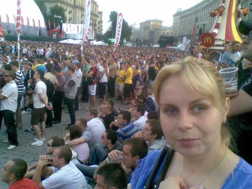 Фан-зона болельщиков Евро-2012 в Киеве