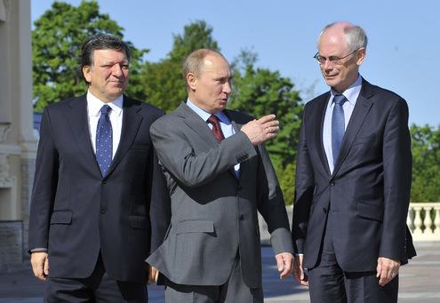 Владимир Путин встретился с Жозе Мануэлом Баррозу и Херманом Ван Ромпёем
