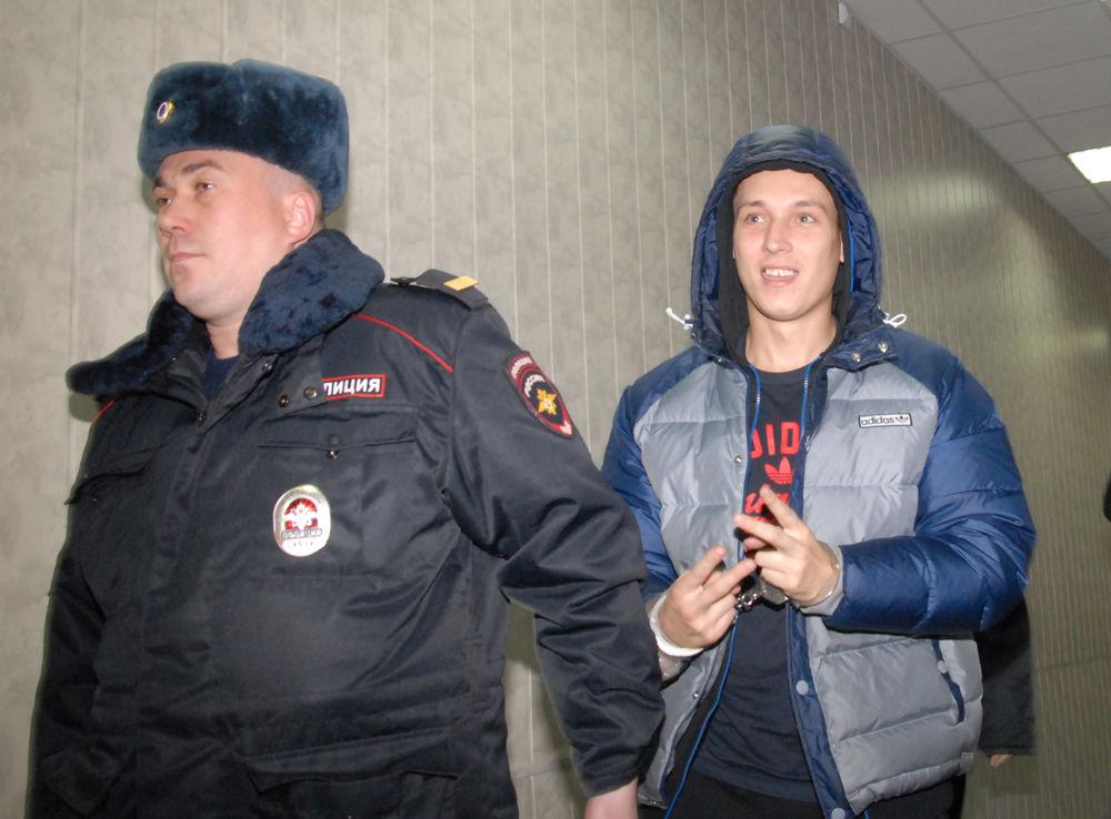 Рома Жиган в Савеловском суде Москвы