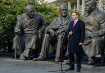В Крыму открыли памятник Сталину — с Черчиллем и Рузвельтом
