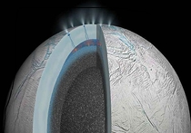 На Энцеладе обнаружены гейзеры и под слоем льда океан