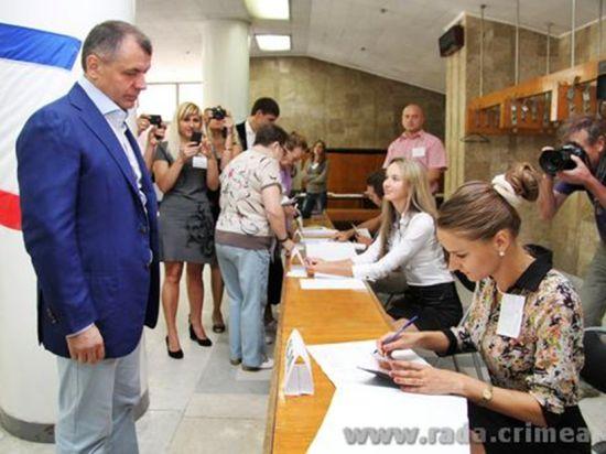 Крымский спикер проголосовал за достойное будущее
