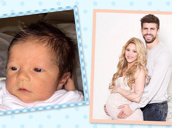 Шакира показала личико новорожденного сына
