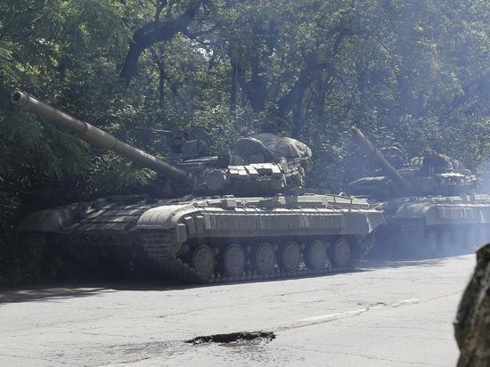 Ополченцы ДНР подбили украинский танк и четыре БМД под Ямполем