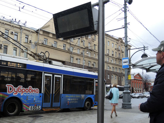 В троллейбусах на Садовом кольце появятся телевизоры