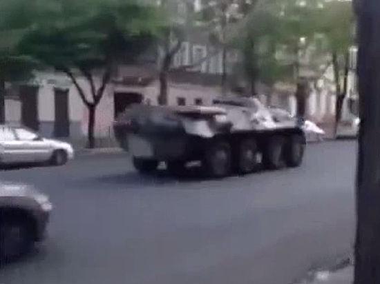 В Одессу вошли БТРы
