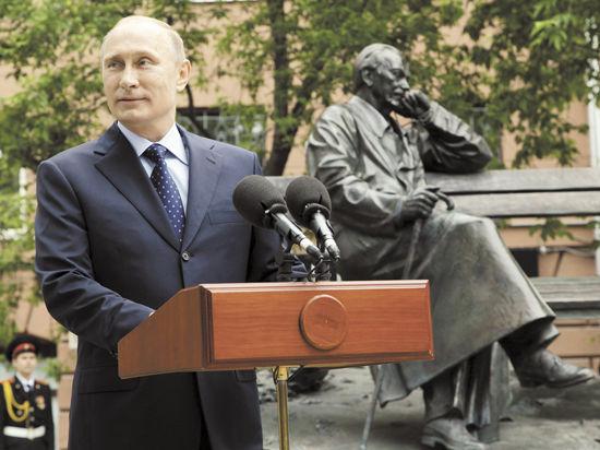Путин открыл памятник Михалкову